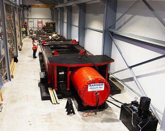 banc de traction horizontal 2600 tonnes